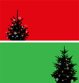 Christmas tree banners set vector image vector image
