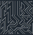 chrome geometric seamless pattern vector image