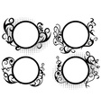 Circle floral frame decoration vector image