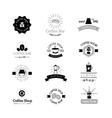 coffee shop sign cafe symbol badge vector image vector image