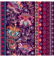 colorful border Floral decorative pattern vector image vector image