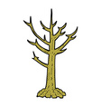 comic cartoon naked tree vector image vector image