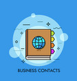 concept of business contacts international vector image vector image