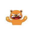 cute bear furious vector image vector image