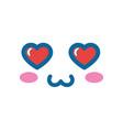 cute kawaii cartoon face vector image