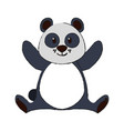 cute panda bear cartoon vector image vector image