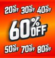 discount percentage big sale vector image vector image