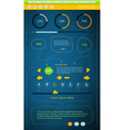 elements of user interface vector image vector image