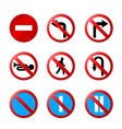european road signs with details vector image vector image
