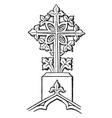 finial cross decorative vintage engraving vector image vector image