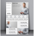 flyer design with a blurred photo vector image vector image