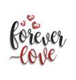 forever love lettering vector image