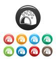 fruit bonbon icons set color vector image