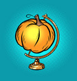 globe international pumpkin autumn harvest vector image vector image