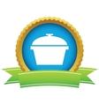 Gold pan logo vector image