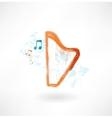 harp grunge icon vector image