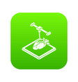heart d printing icon green vector image vector image