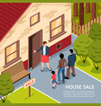 house sale isometric background vector image