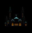 islam ramadan mosque vector image vector image
