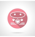Jewelry romantic gift round pink icon vector image vector image