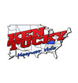 kentucky state with us state on american vector image vector image