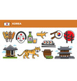 korea travel destination advertisement with vector image