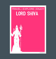 lord shiva india monument landmark brochure flat vector image vector image