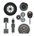 Machine icon set Auto part design graphic vector image