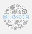 mission round concept outline business vector image vector image