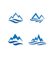 mountain and water logo icon design template vector image vector image