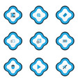 multimedia icons colored set with sound off vector image