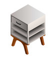 night stand icon isometric style vector image