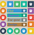 Notebook address phone book icon sign Set of vector image