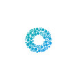 o particle letter logo icon design vector image vector image