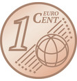 one euro cent coin vector image vector image