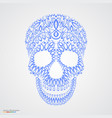 ornamental pattern skull in tattoo style vector image vector image