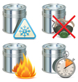 Paint Properties Icons vector image vector image