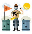 paintball player flat style colorful vector image vector image