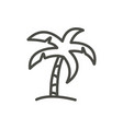 palm icon line beach tree symbol isolated vector image vector image