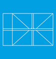 parcel icon outline style vector image vector image