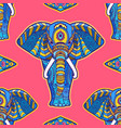 pattern elephant geometric circle element made in vector image vector image