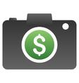 Photo Business Gradient Icon vector image