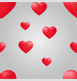 red heart seamless pattern background love vector image vector image