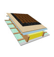 roof structure in a cut vector image