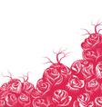 Rose scene vector image vector image