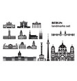 set berlin landmarks vector image