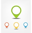 set bright map pointers vector image vector image