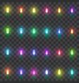 set led neon lamps set christmas lights vector image vector image