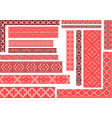 set of 15 seamless ethnic patterns for embroidery vector image