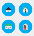 set of simple estate icons vector image